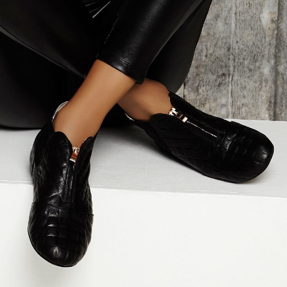 Cocorose London - Hampstead Black 3D Leather Boots