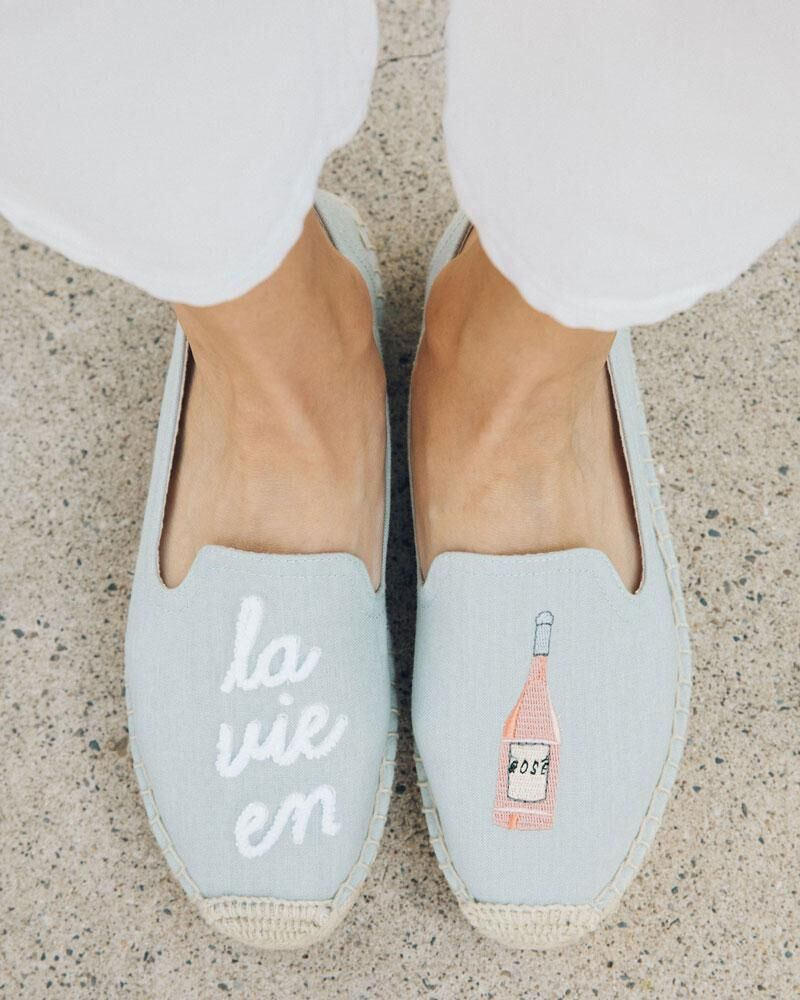 Soludos - La Vie En Rose Smoking Slipper