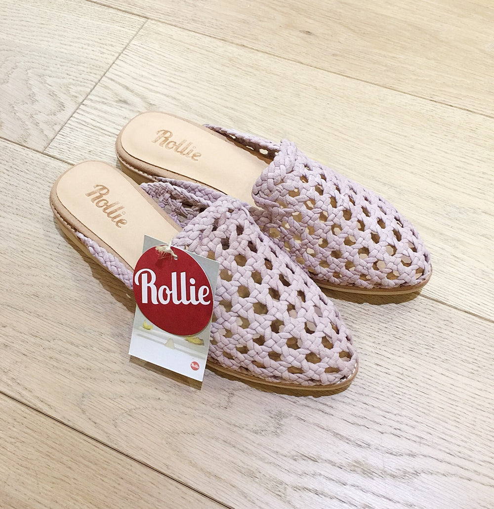 Rollie Nation Madison Mule Open Wave soft pink in Brisbane Ballerine Ballerinas