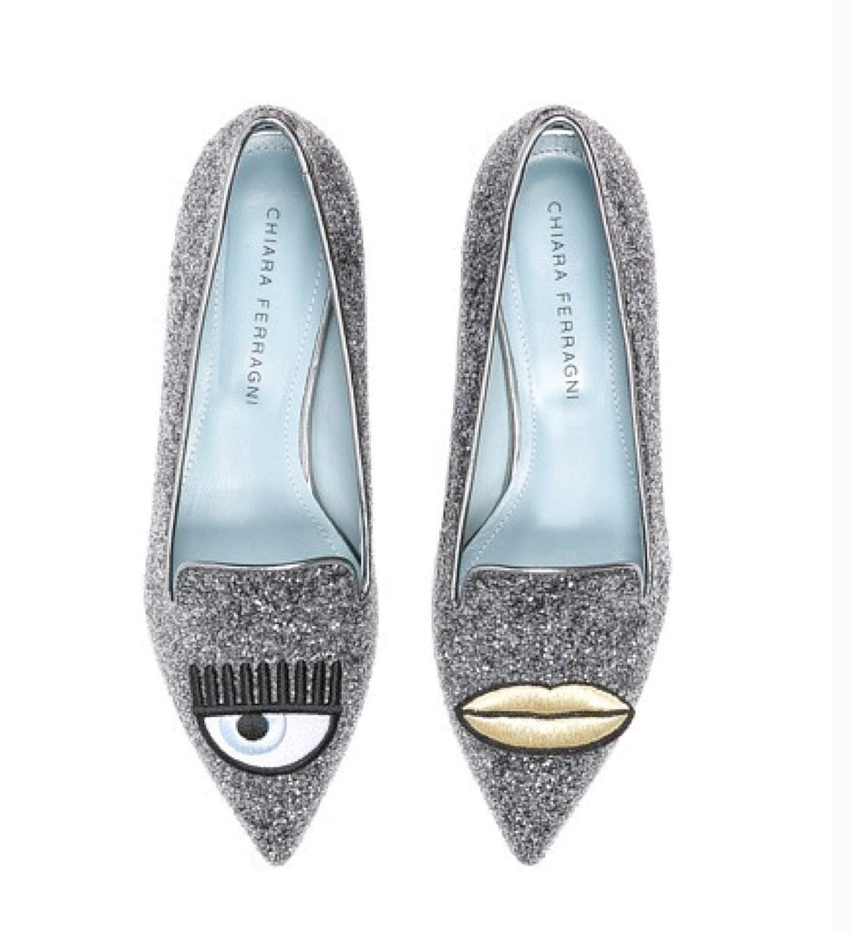 Chiara Ferragni - Pointy Slippers with Lip