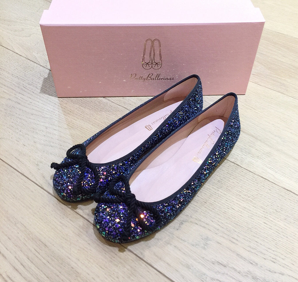 Pretty Ballerinas - Purple/Black Glitter