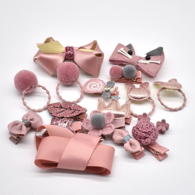 AMeli's - 17 Pcs/Box Kids Hair Accessories