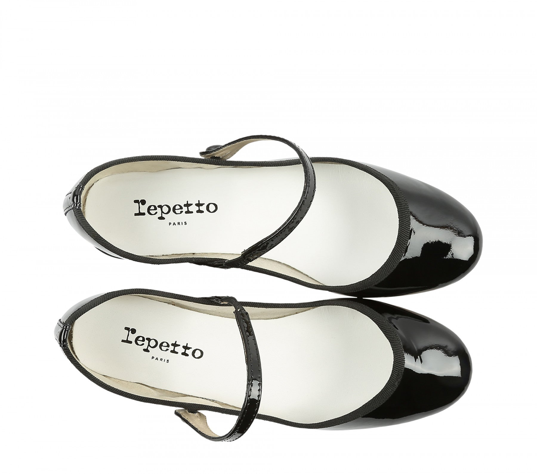 Repetto Paris - Rose Mary Jane Black Patent Heel SPECIAL PRE-ORDER PRICE