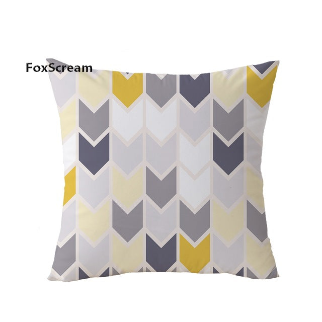 abstract sofa geometric modern yellow pillows decorative decor minimalist throw