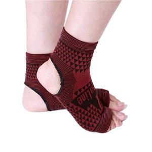 2 Piece Elastic Knitted Tourmaline Magnetic Therapy Ankle & Foot Brace Support Band Feet & Ankle Cerebralbodystore