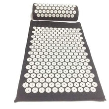 Acupressure Mat And Pillow Set For Back Neck Pain Relief And Muscle Relaxation Black-Pillow Cerebralbodystore