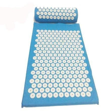 Acupressure Mat And Pillow Set For Back Neck Pain Relief And Muscle Relaxation Blue-Pillow Cerebralbodystore