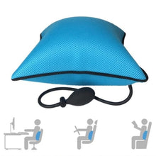 Inflatable Lumbar Back Relief Cushion Ergonomic Pillow Blue Cerebralbodystore