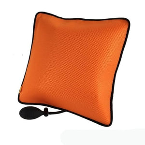 Inflatable Lumbar Back Relief Cushion Ergonomic Pillow Orange Cerebralbodystore
