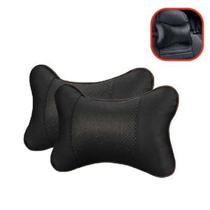 Leather Orthopedic Comfortable Car Neck Headrest Black Cerebralbodystore