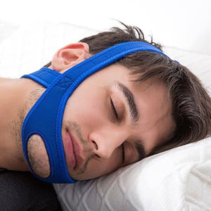 Stop Snoring Chin Strap Jaw Support For All Sleeping Positions Blue Ergonomic Cerebralbodystore