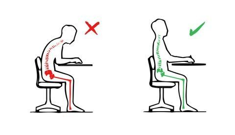 Lower back pain sitting posture Cerebral Body