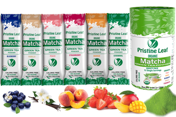 Variety Pack - Flavored Matcha, 12 Single Servings - PristineLeaf.com