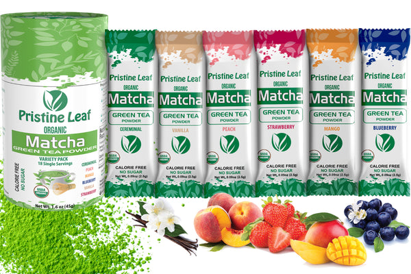 Variety Pack - Flavored Matcha, 18 Single Servings - PristineLeaf.com