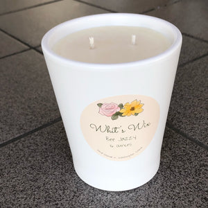 Bee Jazzy 16oz White Tumbler