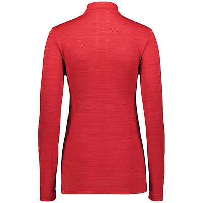 Striated 1/2 Zip Pullover - Ladies