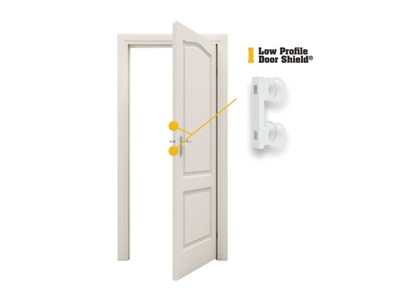 "Low Profile Door Shield - 2-3/4"" Backset"