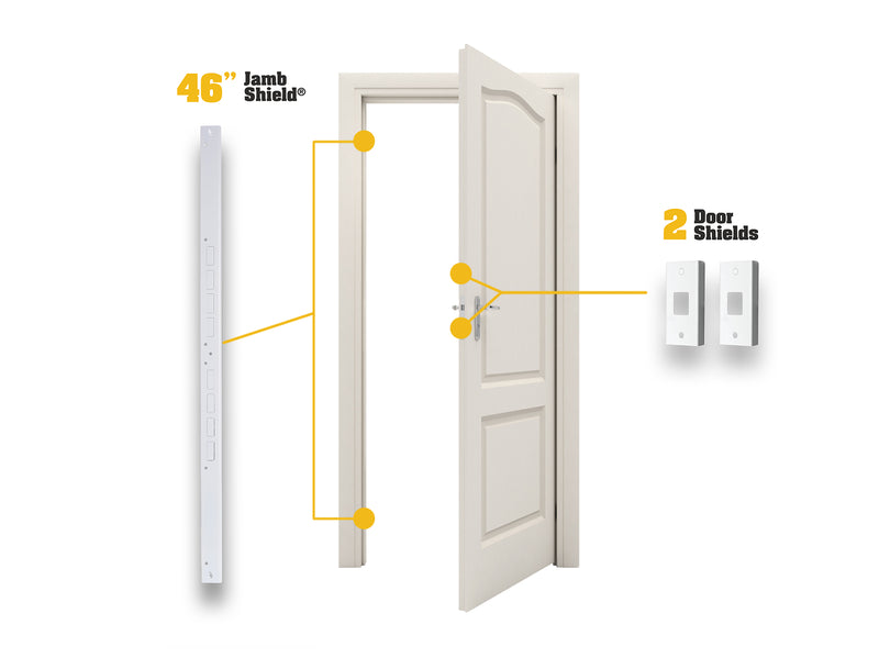 Door Armor MINI Combo Set  sc 1 st  Armor Concepts & Front Door Security Devices | Security Door Frame Parts | Armor Concepts
