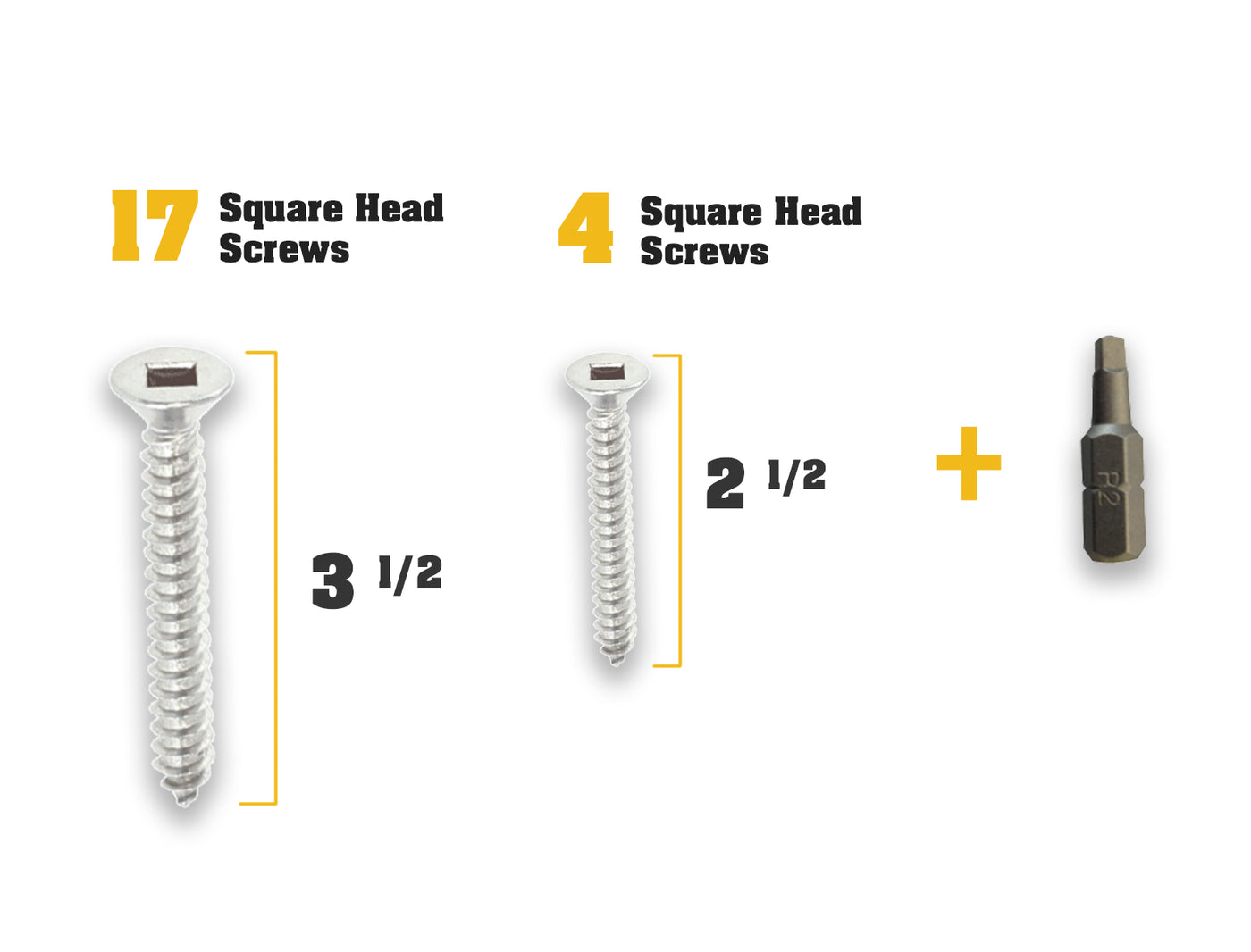 Door Armor MAX screw/instruction pack  sc 1 st  Armor Concepts & Square Drive Screws and Square Head Bit Set | Armor Concepts
