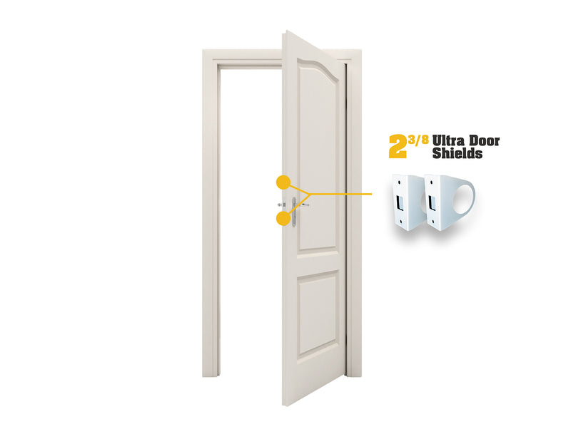"Ultra Door Shield - 2-3/8"" Backset"