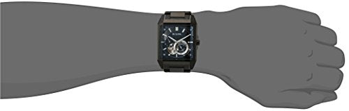 Bulova Men's Automatic Stainless Steel Casual Watch, Color:Black (Model: 98A180)