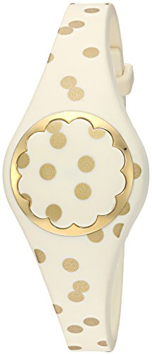 Cream and gold dot scallop activity tracker