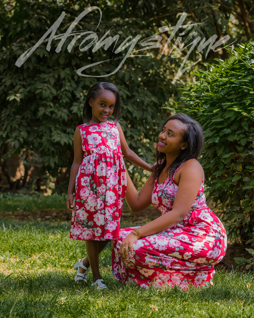 Mommy Daughter Floral Maxi Dress