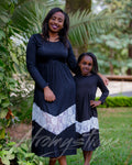 Mommy Daughter Black Maxi Dress