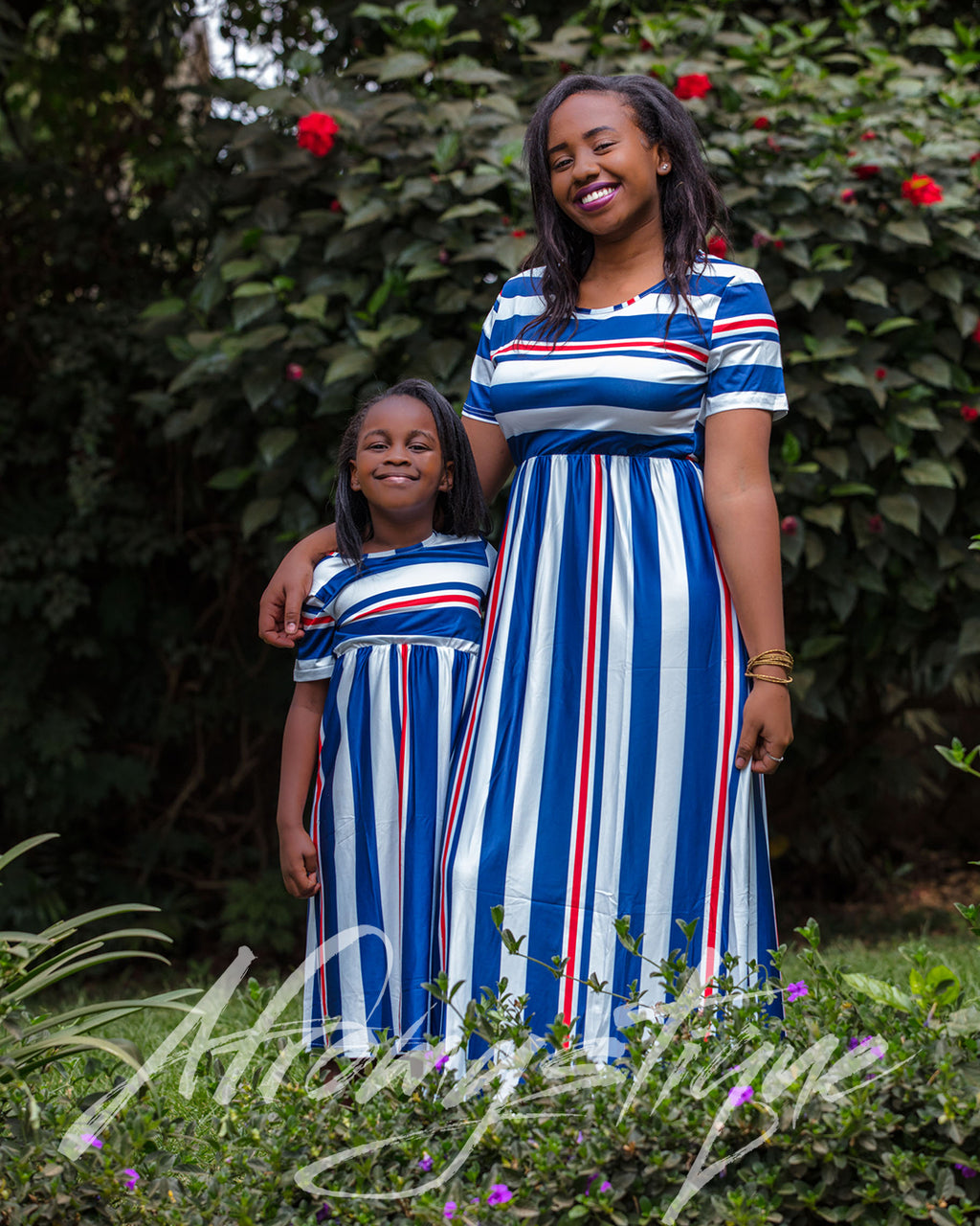 Mommy Daughter Stripped Dress