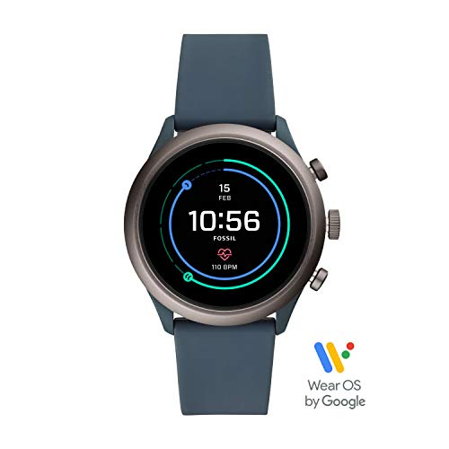 Fossil Men's Gen 4 Sport Heart Rate Metal and Silicone Touchscreen Smartwatch