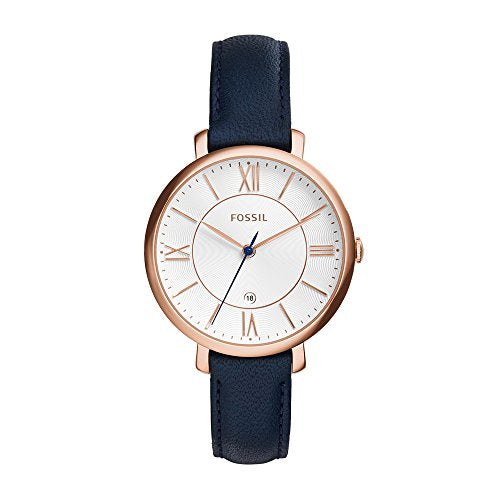 Fossil Jacqueline Three-Hand Date Leather Watch