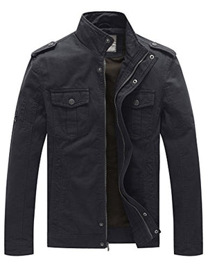 Men's Casual Cotton Military Jacket