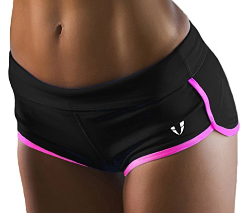 Women's Perfomance Running Yoga Gym Workout Athletic Sport Shorts