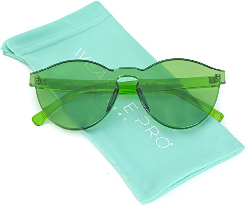 Colorful Transparent Round Super Retro Sunglasses