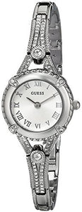 Women's Petite Silver-Tone Watch , Crystal-Accented Bezel and Stainless Steel G-Link Band