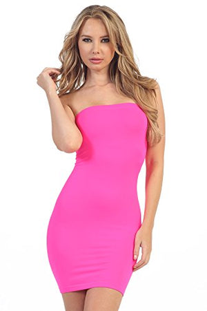 Women's Strapless Stretchy Comfort Mini Sexy Tube Dress