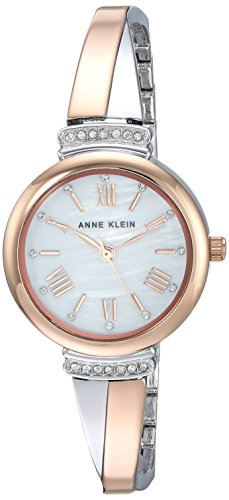 Anne Klein Rose Goldtone and Silvertone Bangle Set