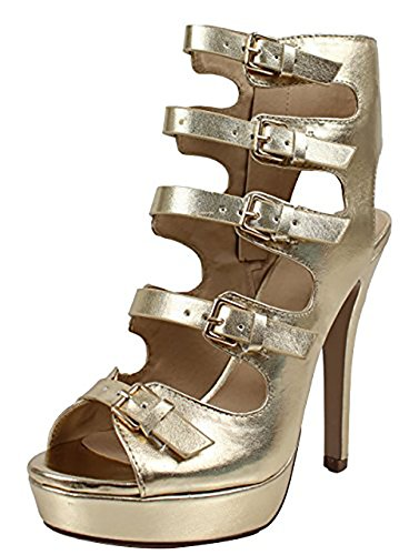 Strappy Women's Platform Lace Up Heels