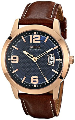 GUESS Men's Stainless Steel Leather Watch, Color: Brown (Model: U0494G2): Guess: Gateway