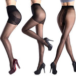 Women's Pantyhose Black Nude Control Top Sheer Tights Nylons 3 Pack