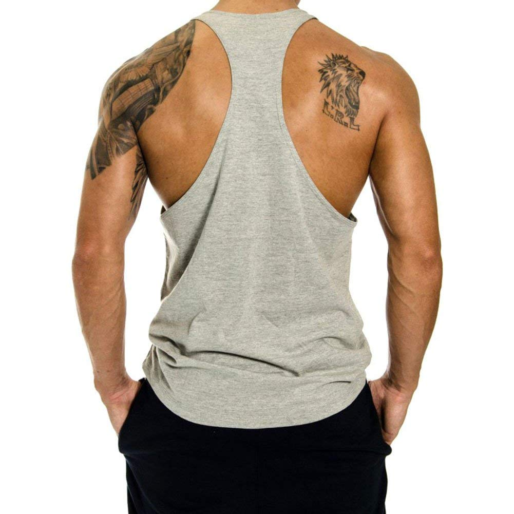Men's Gym Cotton Beast Muscle Stringer Vest