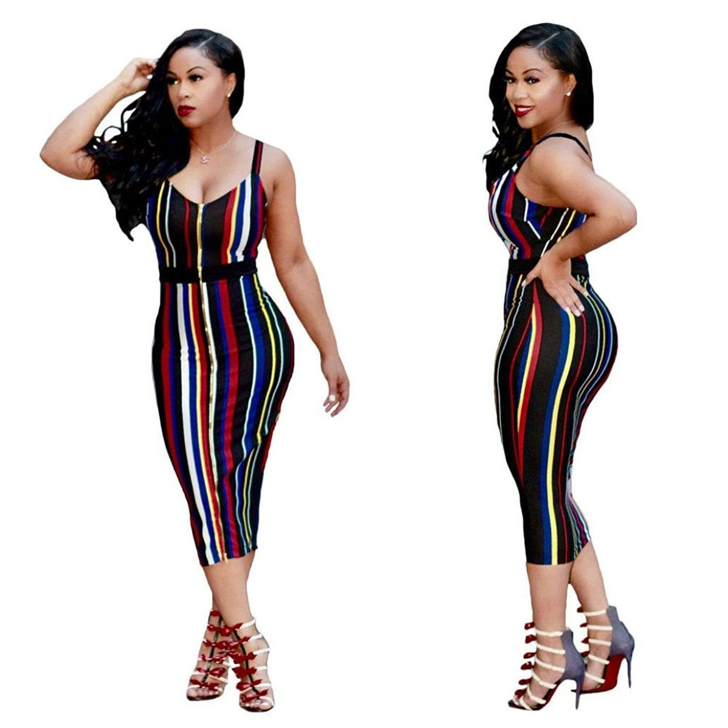 Bandage Bodycon Party Cocktail Club Dress - Afromystique