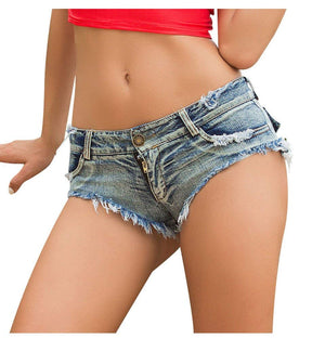 Women's Sexy Cut Off Low Waist Booty Denim Jeans Shorts
