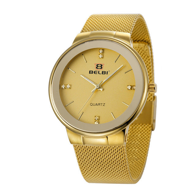 Belbi Stainless Steel Quartz Bracelet Wrist Watch