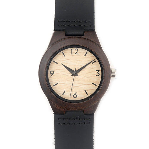 BOBO BIRD WE28 Luxury Womens Ebony Wooden Watches