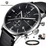 PAGANI Design Chronograph Leather Men's Watch