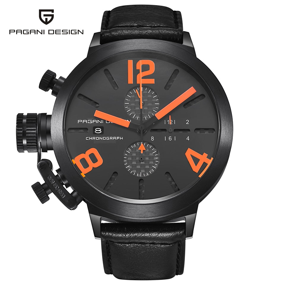 PAGANI DESIGN Blacked Out Military Chronograph