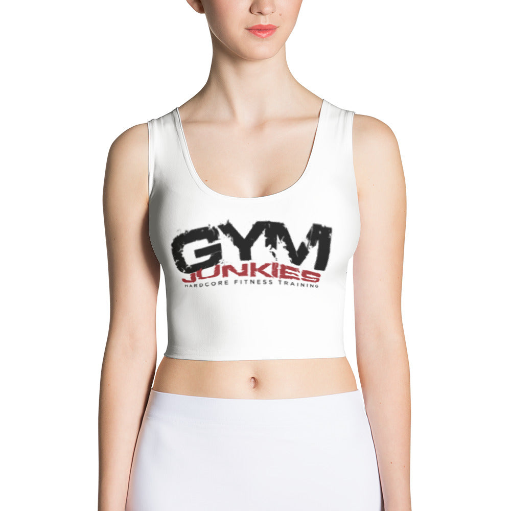GymJunkies Sublimation Cut & Sew Crop Top - gymjunkies
