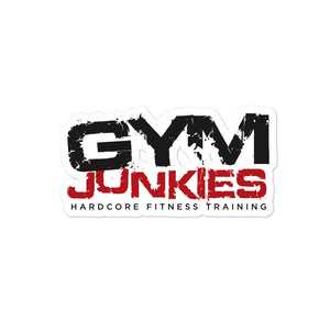 Gym Junkies Bubble-free stickers