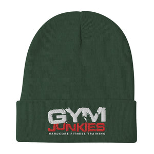 Gym Junkies Embroidered Beanie